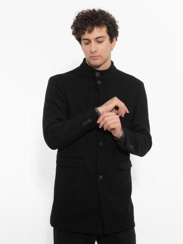 OVER-D παλτό OM201CP μαύρο