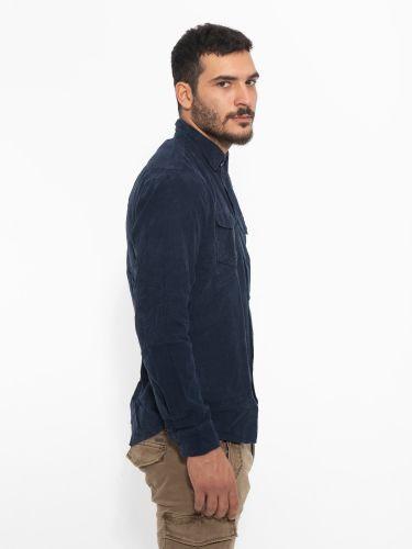 OVER-D πουκάμισο κοτλέ OM247CM μπλε