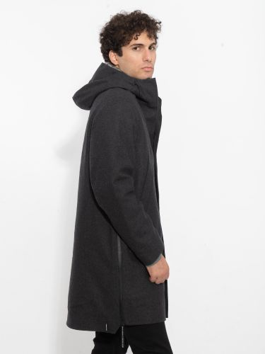 KRAKATAU παλτό QM270 ανθρακί