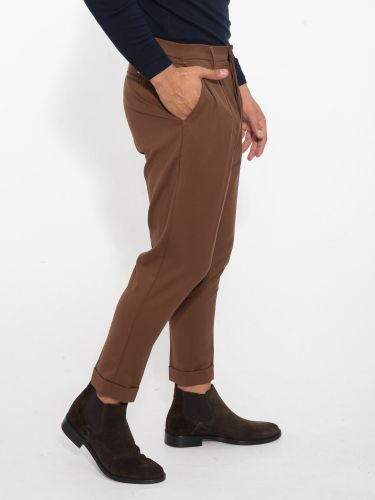 I AM BRIAN παντελόνι chino PA1501 καφέ