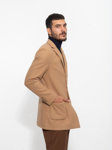 OVER-D παλτό OM230CP μπεζ