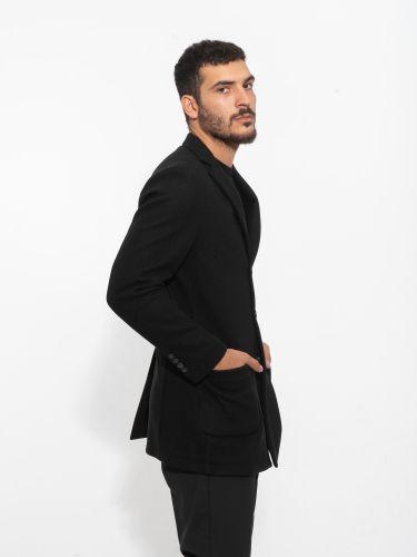OVER-D παλτό OM230CP μαύρο