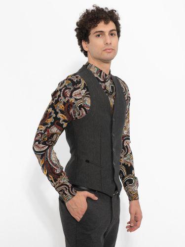 OVER-D vest OM212GL grey