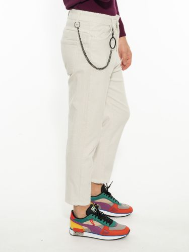 OVER-D pants chino corduroy OM526PN off white