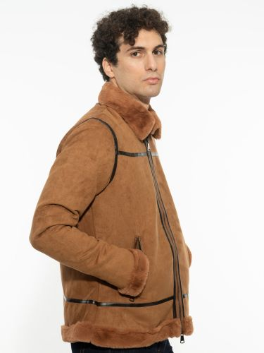 OVER-D jacket OM220GB camel brown