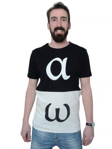 PLAY SHIRTS t-shirt ALFA-OMEGA μαύρη