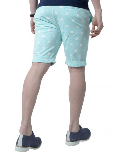 THE PROJECT shorts H3SO111CO turquoise-white polka dots