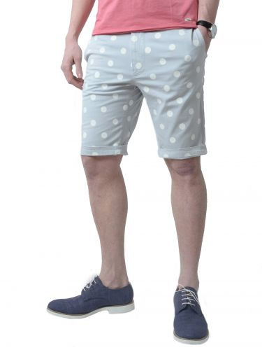 THE PROJECT shorts H3SO111CO grey-white polka dots
