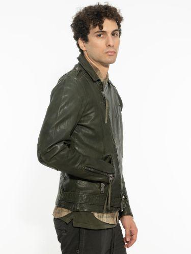 TIGHA leather jacket 101533 ETHAN green