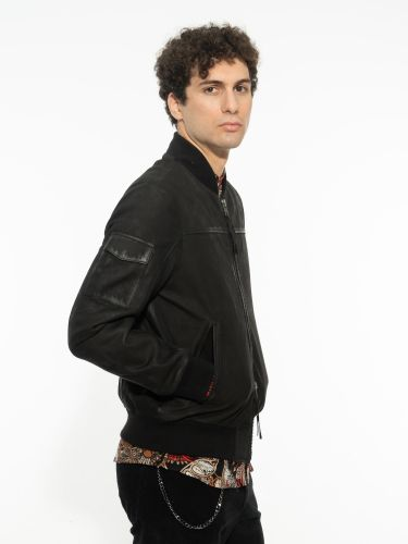 TIGHA leather jacket 105648 VELTE BUFFED black