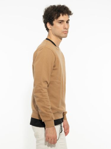 OVER-D sweatshirt OM520FL brown
