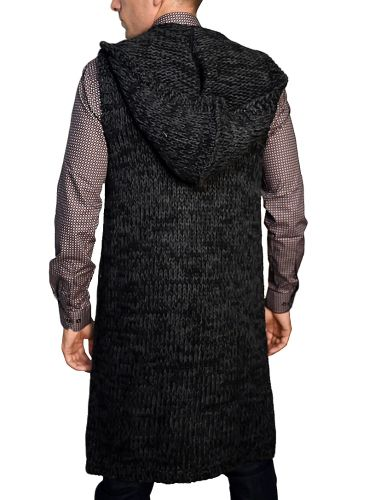 I'M BRIAN sleeveless cardigan MA80/312 grey-anthracite