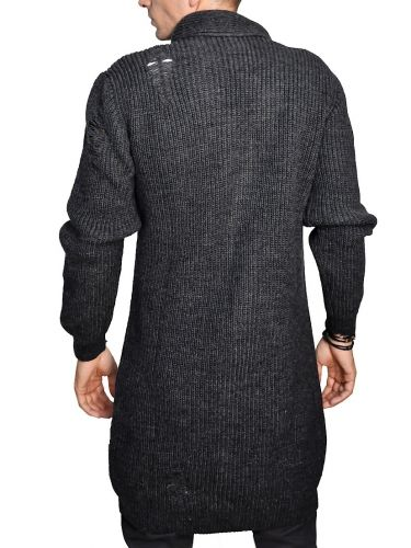 I'M BRIAN long fit cardigan MA80/321 anthracite