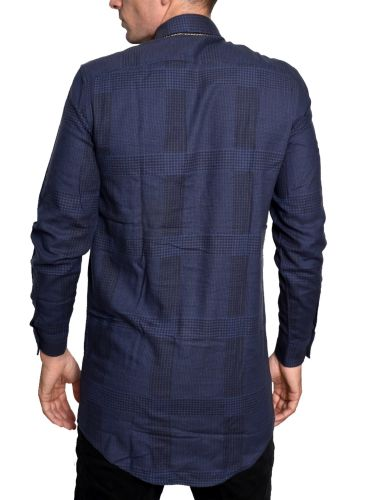 CHEAP MONDAY πουκάμισο 0336492-N52 μπλε μαρίν-μαύρο