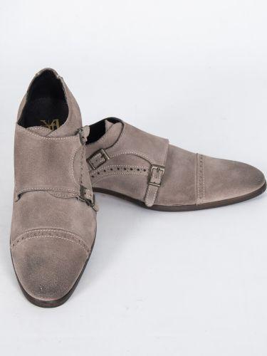 YES LONDON παπούτσι GN06-CAMOSCIO γκρι