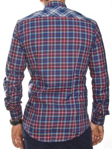 Papilio Garamas shirt PG-221/1 blue checkered