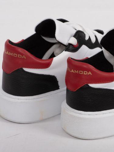 PER LA MODA sneakers PELLE μαύρο-λευκό