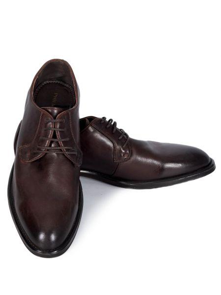 PHILIPPE LANG δερμάτινο παπούτσι MSH001776 καφέ