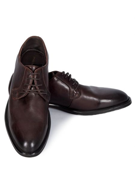 PHILIPPE LANG leather shoes MSH001776 brown