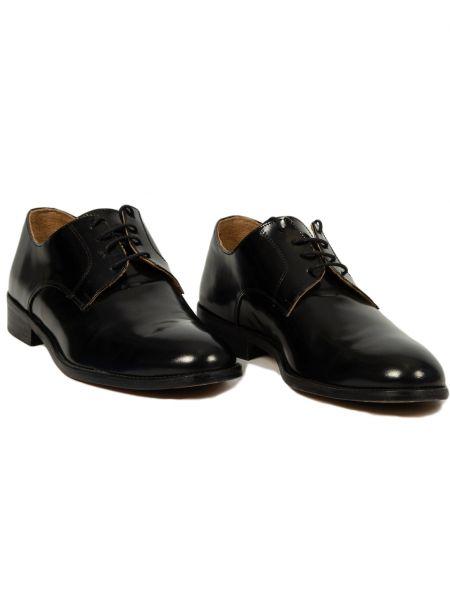 FRANCESCO BONACCIO δερμάτινο παπούτσι 600 μαύρο