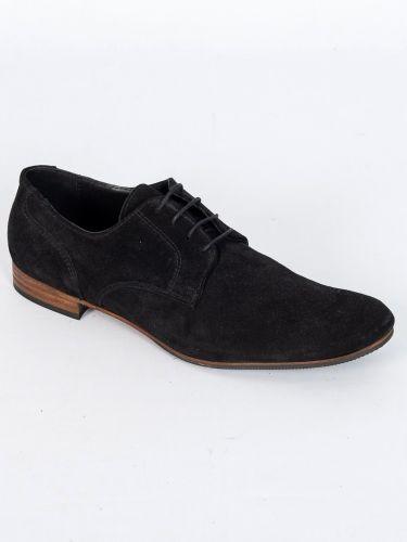 YES LONDON δερμάτινο παπούτσι GN11-CAMOSCIO μαύρο