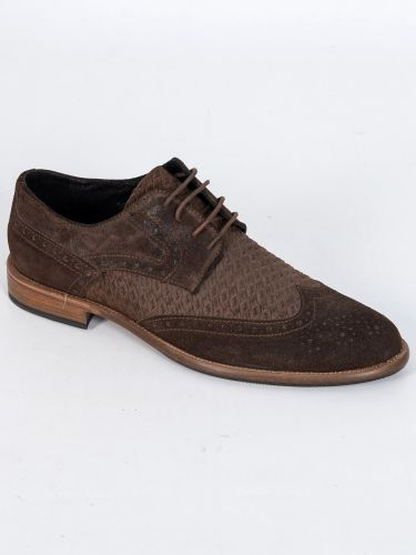 YES LONDON δερμάτινο παπούτσι CM02-CAMOSCIO 352 καφέ