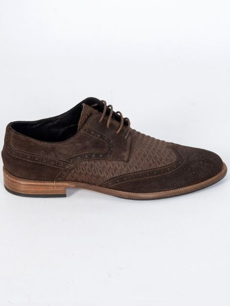 YES LONDON leather shoe CM02-CAMOSCIO 352 brown
