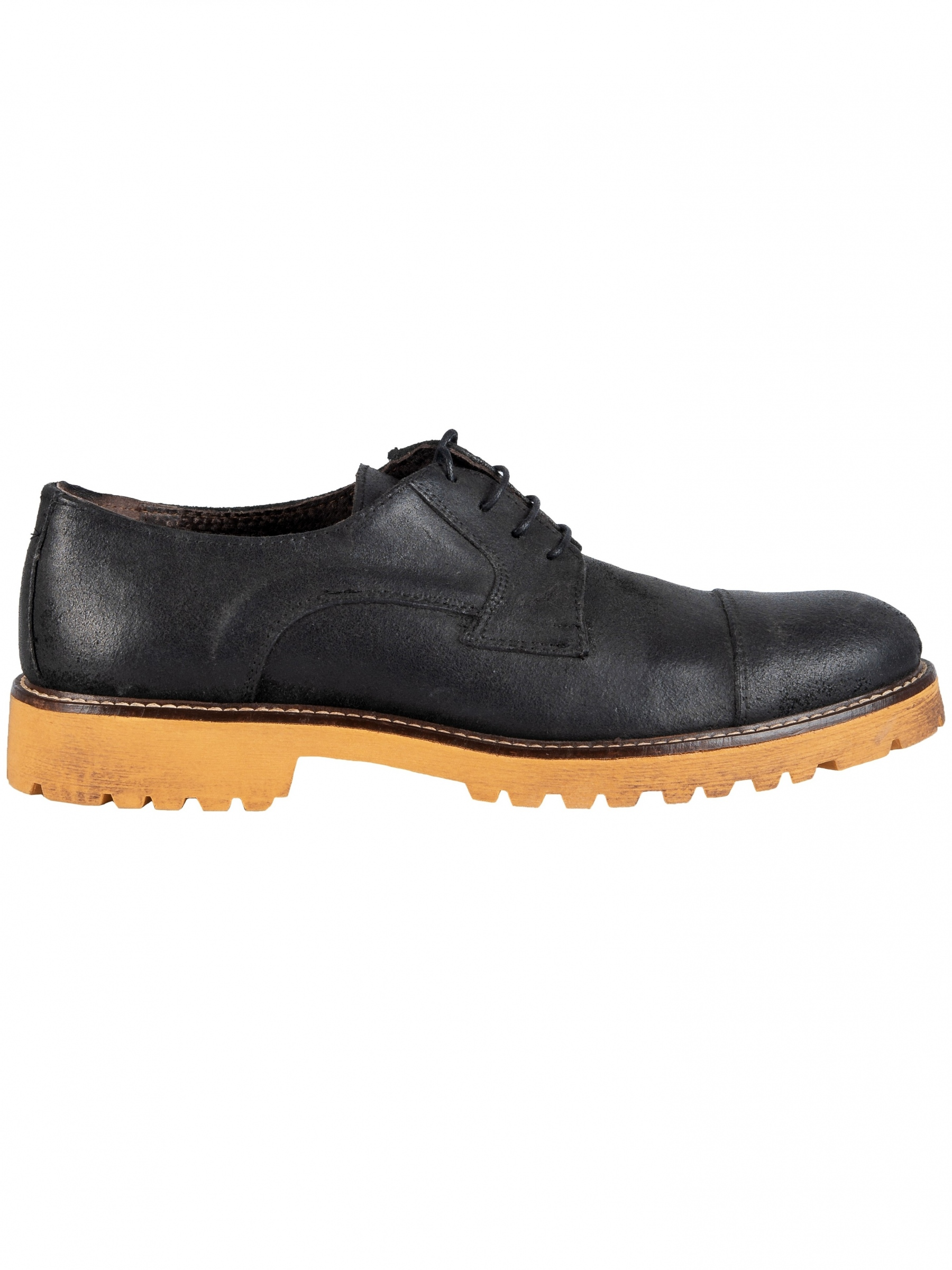 RIVIERA MILANO leather shoes GN01-ISC-OLEATA-2160 black-brown