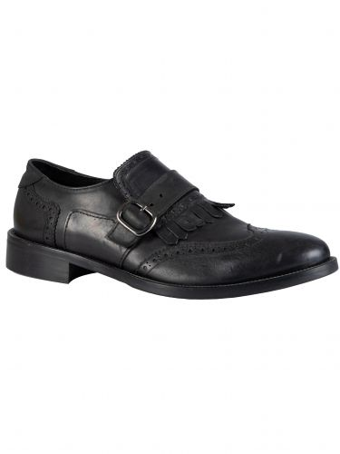 YES LONDON παπούτσι με αγκράφες CARLITOS2-VITTELO μαύρο
