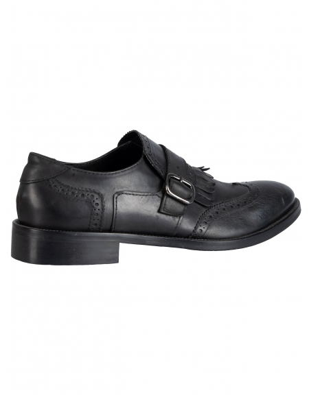 YES LONDON shoes with buckle CARLITOS2-VITTELO black