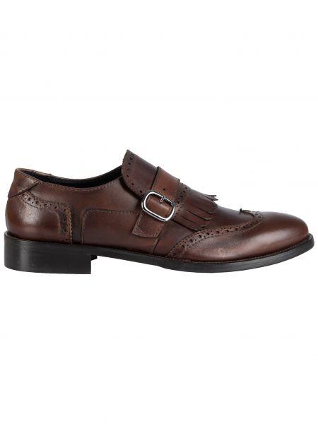 YES LONDON παπούτσι με αγκράφες CARLITOS2-VITTELO καφέ