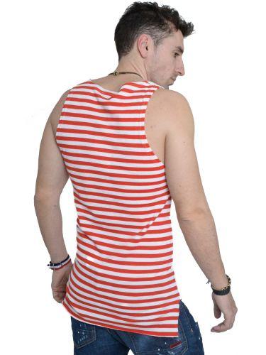 LAK sleeveless t-shirt MS15122123 white-red