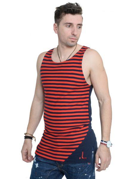 LAK sleeveless t-shirt MS15122122 blue navy-red