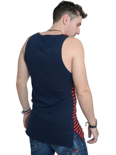 LAK sleeveless t-shirt MS15122122 blue navy-red