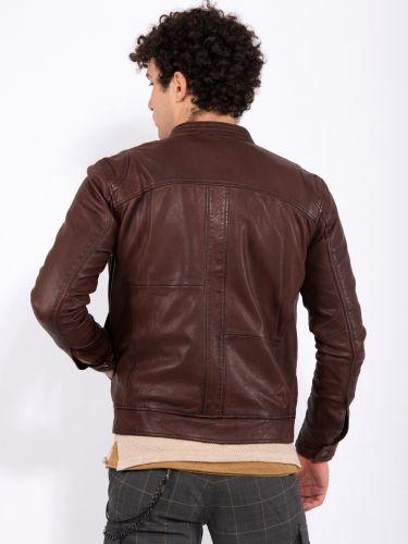 GABBA leather jacket BENTON REEL P4908 bordeaux