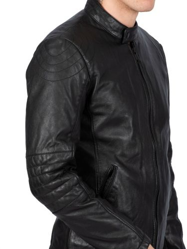 MAYS AND ROSE leather jacket KARL SHEEP ANVERS black