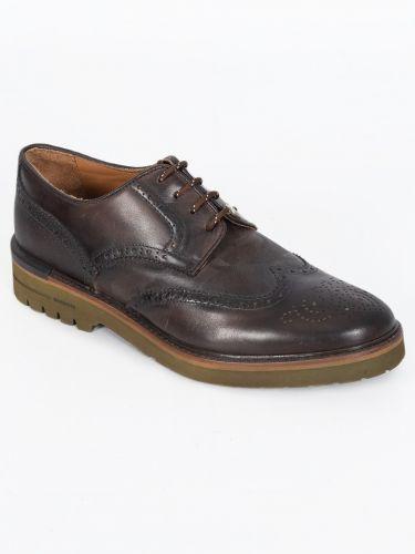 BRIMARTS δερμάτινο δετό παπούτσι 312088G καφέ