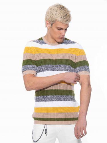 BESILENT MAN t-shirt BSMA0393 πολύχρωμο