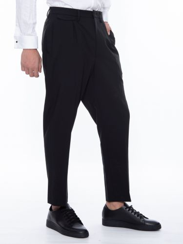 XAGON MAN παντελόνι chino PISAPE μαύρο