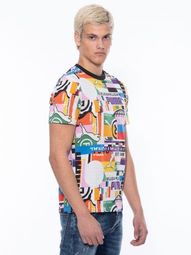 PUMA T-shirt 599791 02 INTL TEE – MULTI Πολύχρωμο