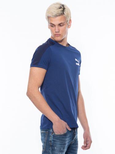 PUMA T-Shirt 599869_12 Iconic T7 Mens Tee Μπλε
