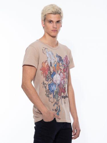 TIGHA t-shirt 105719 DRIPING WREN beige