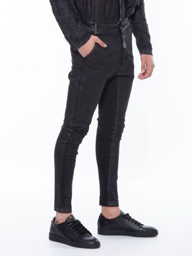 LA HAINE παντελόνι chino 3B START μαύρο
