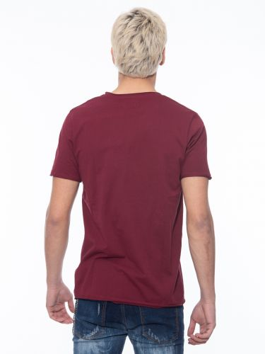 OVER-D t-shirt OM113TS burgundy