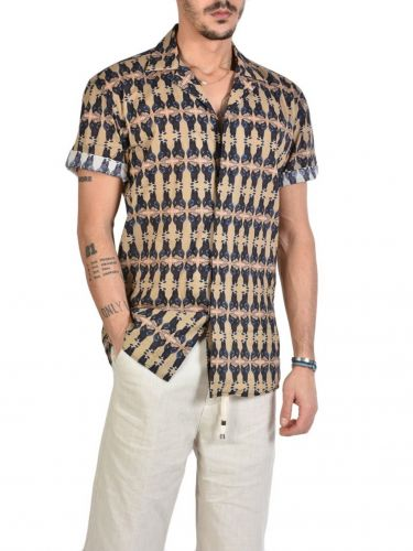 XAGON MAN Short Sleeve Shirt A00002 Printed