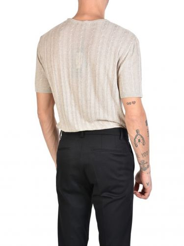 XAGON MAN T-shirt knitted yarn J01204 Beige