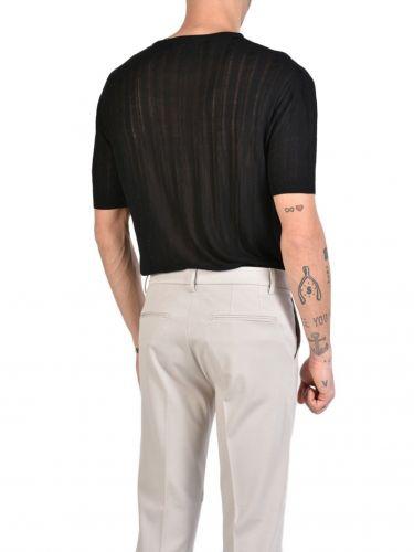 XAGON MAN T-shirt πλεκτό νημάτινο J01204 Μαύρο