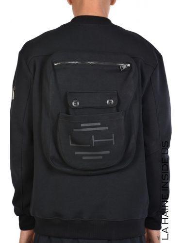 LA HAINE Sweatshirt cardigan 3M ESOTERIC Black