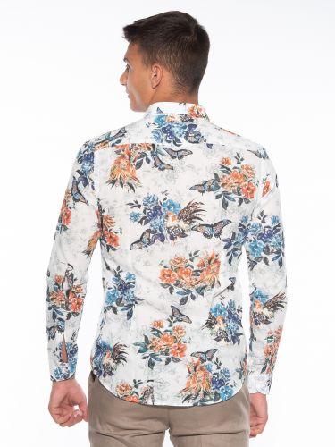 OVER-D Shirt OM834CM Printed - White - Floral