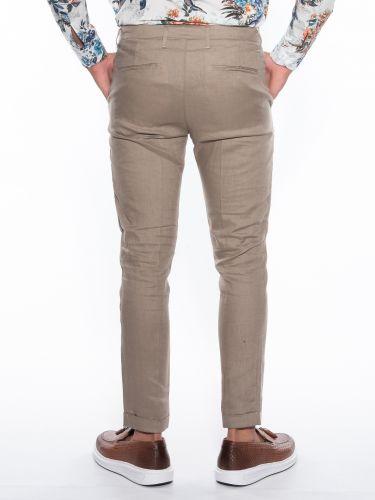 OVER-D Pants Chino linen OM539PN Beige